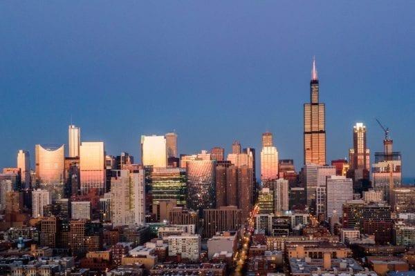 chicago skyline, chicagohenge