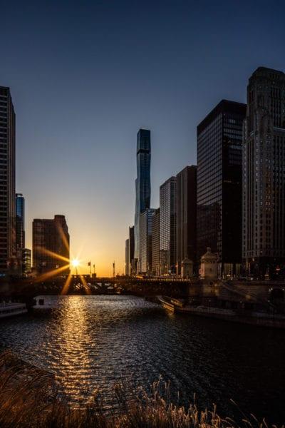chicagohenge, chicago river, st regis chicago