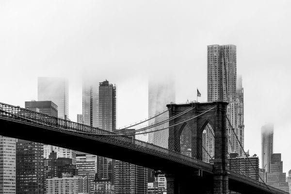 brooklyn bridge, nyc skyline