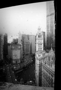 chicago skyline, wrigley building