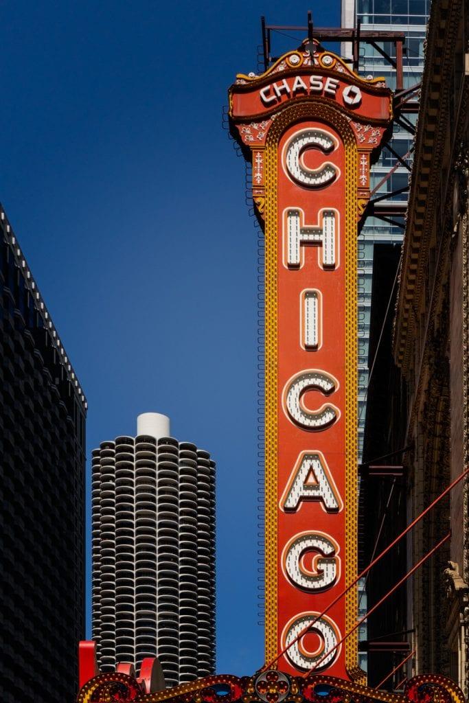 chicago theater, marina city