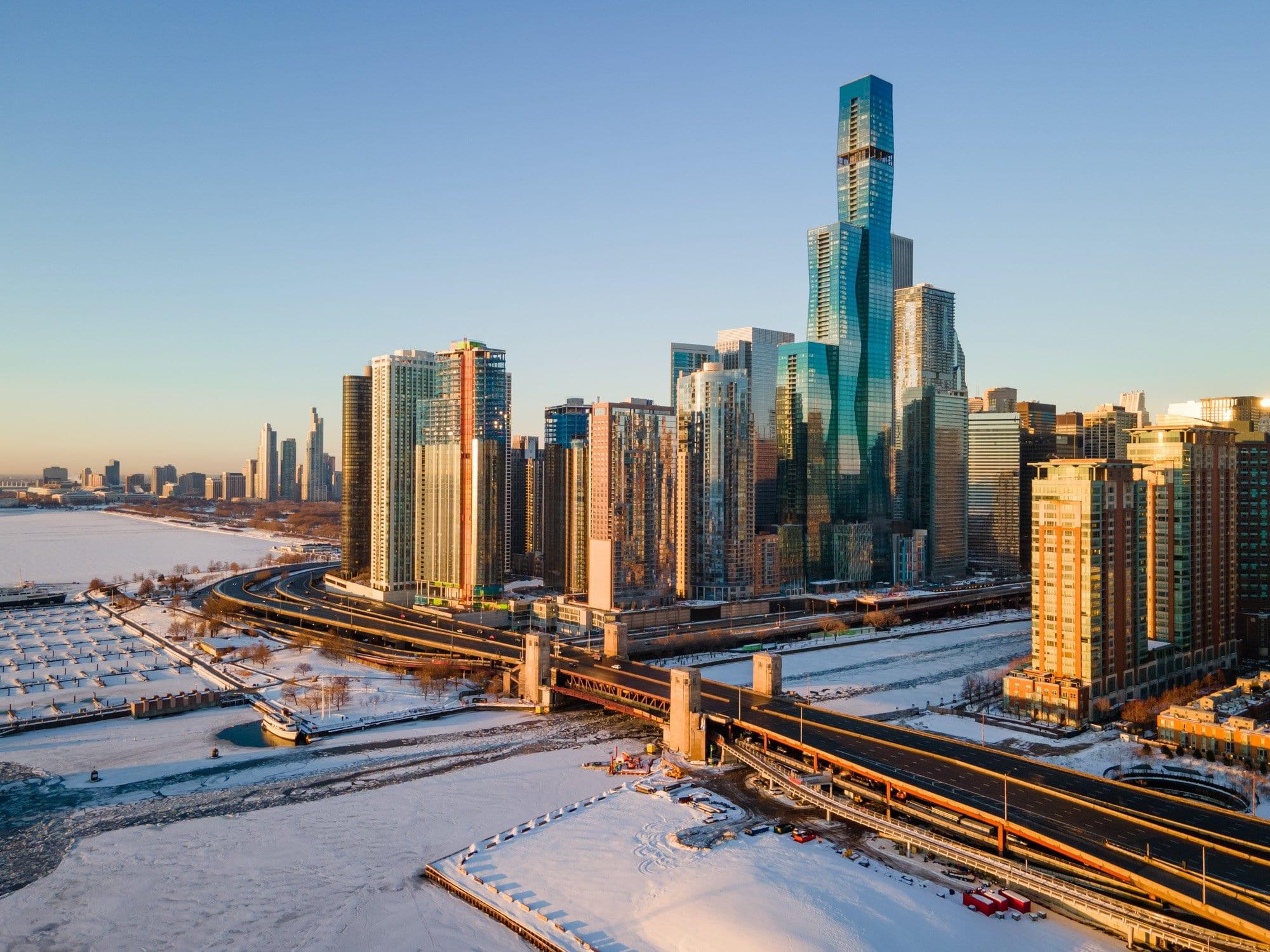st regis chicago, magellan development, studio gang architects, drone photography, drone architecture photography